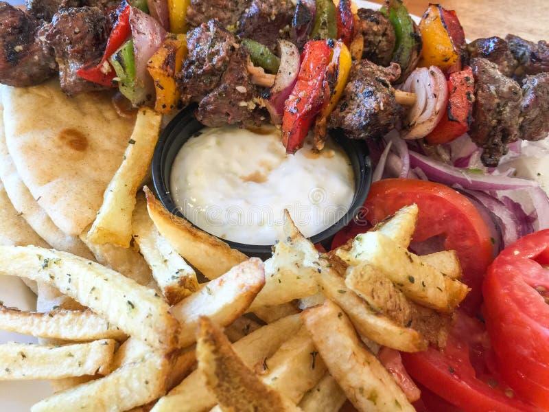 Греческая еда стоковое изображение