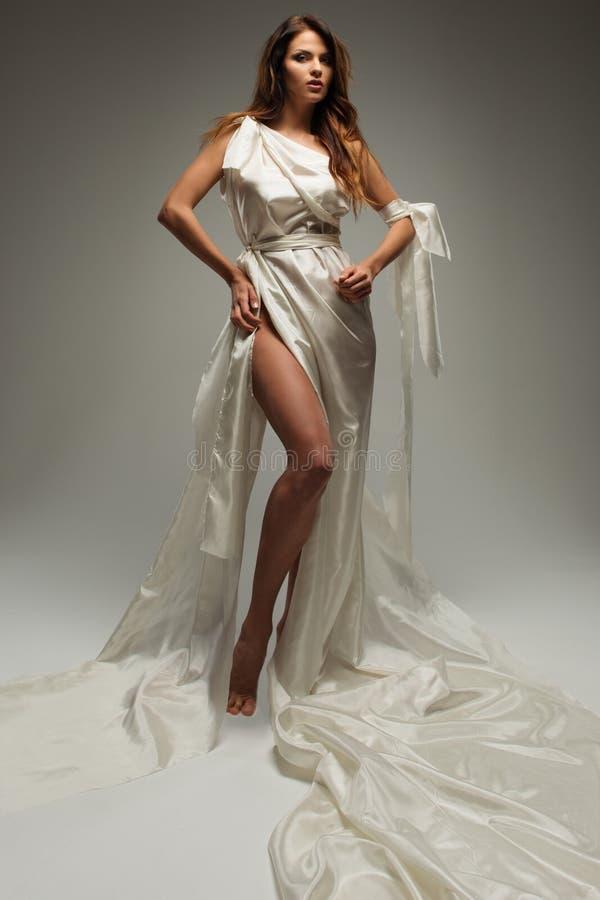 Греческая женщина стиля стоковая фотография rf
