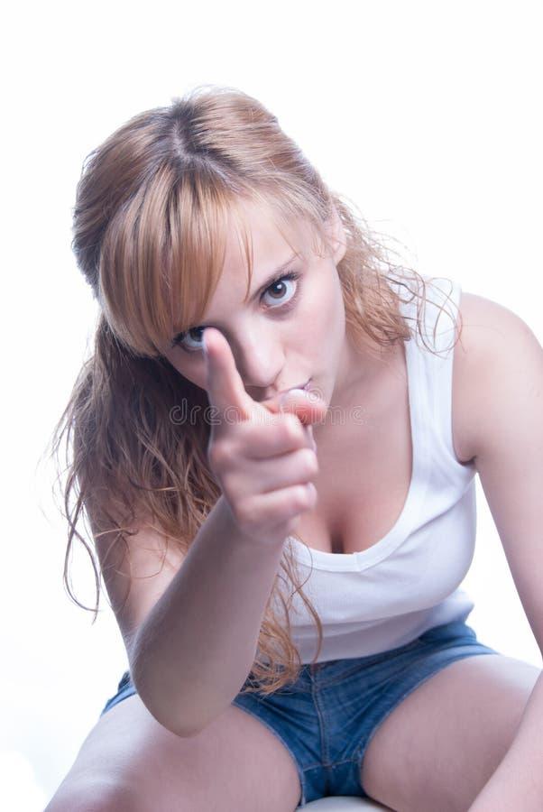 Греческая молодая женщина очень сердитая стоковые фото