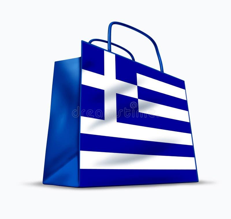 греческая покупка иллюстрация вектора