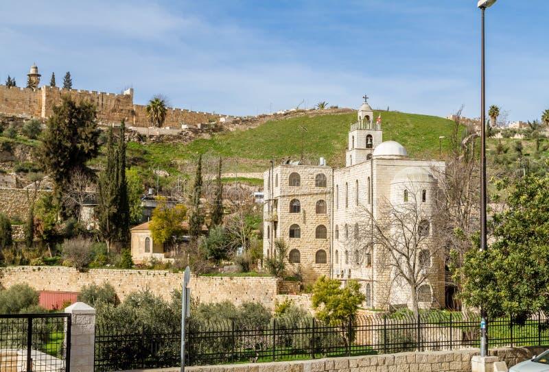 Греческая православная церков церковь St Stephen в Иерусалиме стоковые фото