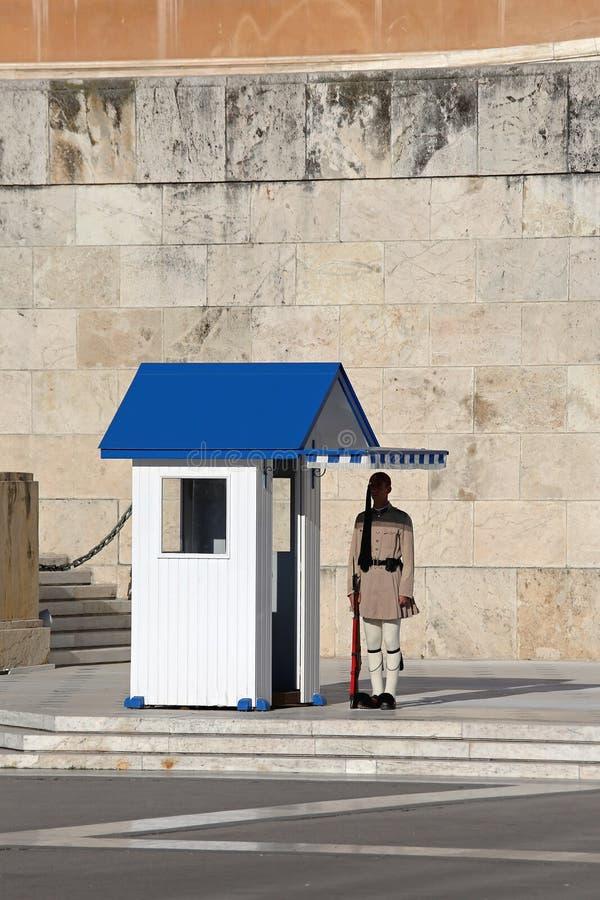 Греческая президентская охрана стоковые фото
