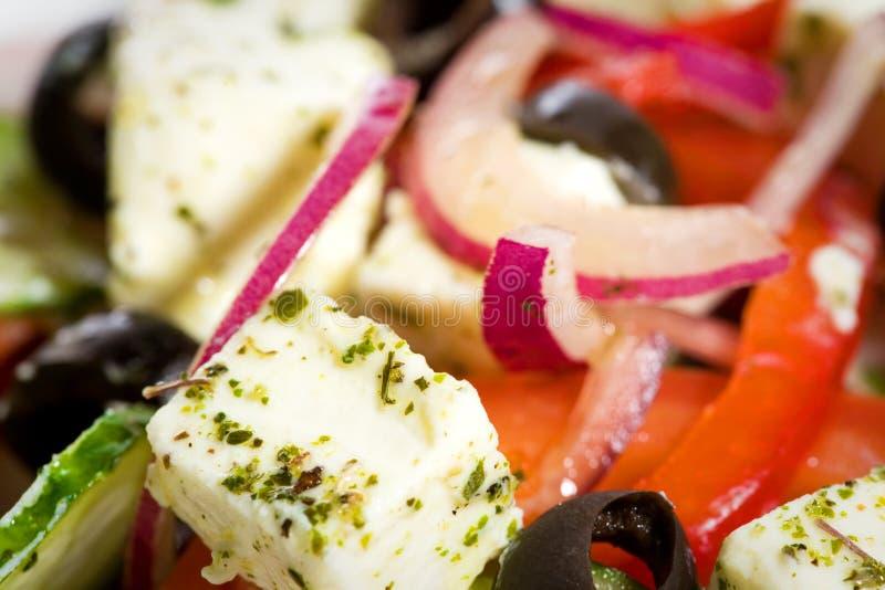 греческая съемка салата макроса стоковое фото rf