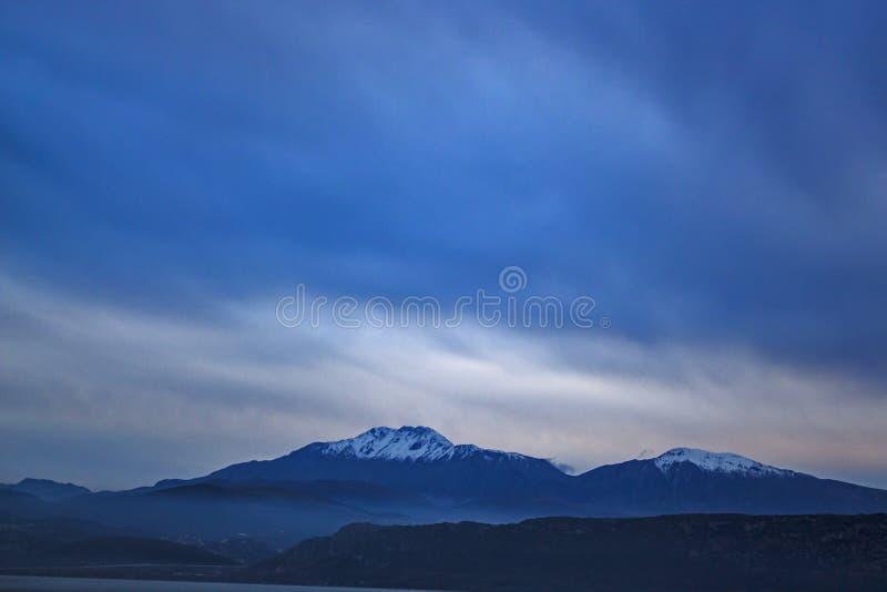 Греческие изумительные горы стоковое изображение