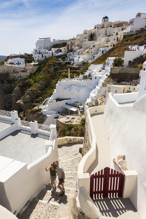 Греческие пары любовников приключения стоковое фото