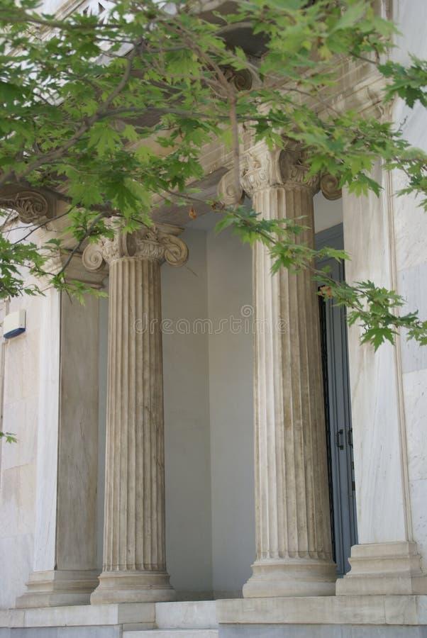 Греческие столбцы, Афины стоковое фото rf