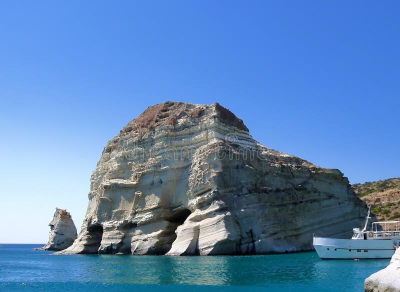 Греческие Milos острова стоковые изображения