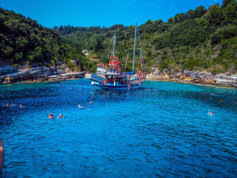 Греческие paxos острова стоковое фото rf