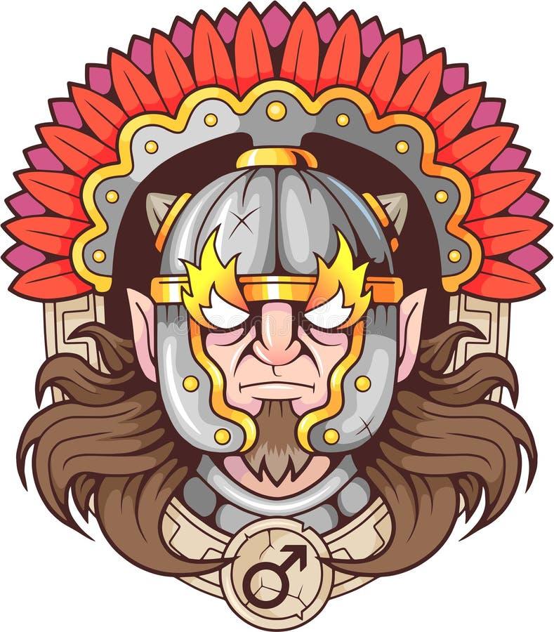 Греческий бог войны Ares иллюстрация штока