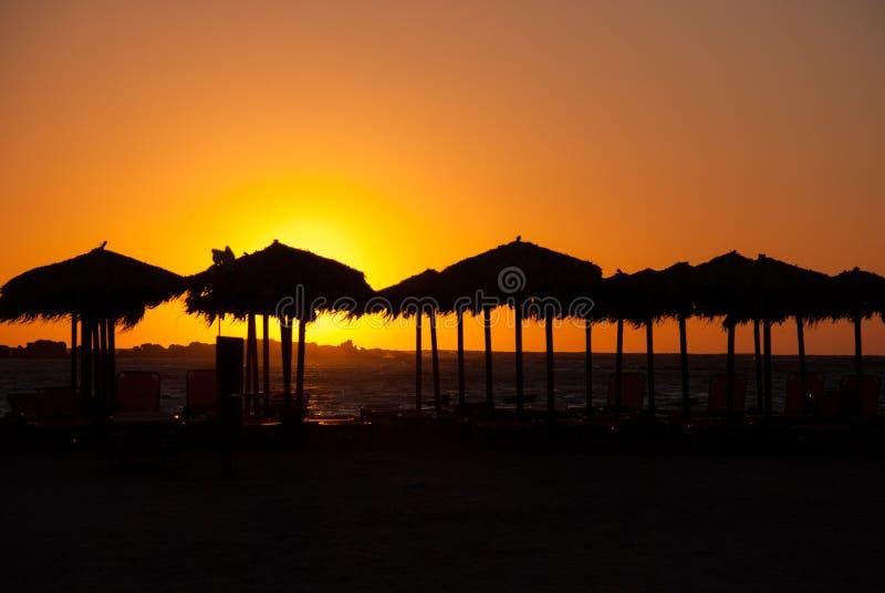 греческий заход солнца стоковое изображение rf