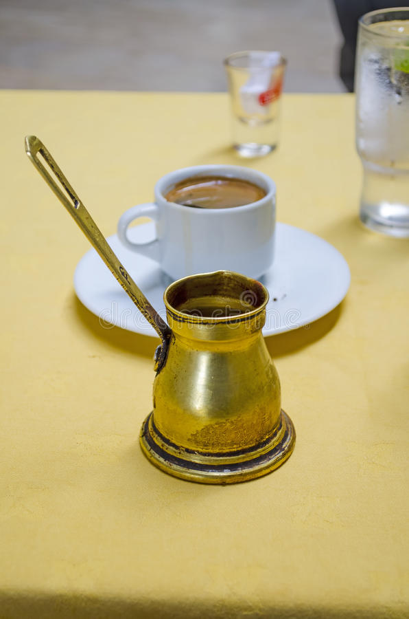 Греческий кофе стоковые изображения