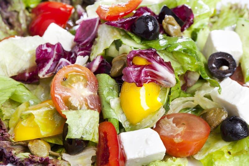 Греческий макрос салата стоковое изображение rf