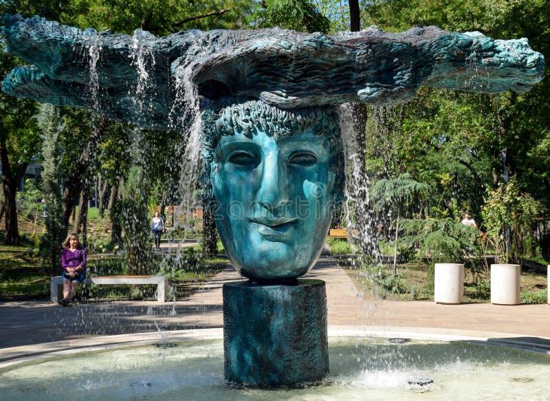 Греческий парк в Одессе, лете, 2018 стоковое изображение