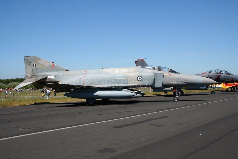 Греческий реактивный истребитель фантома военновоздушной силы F-4 стоковое изображение