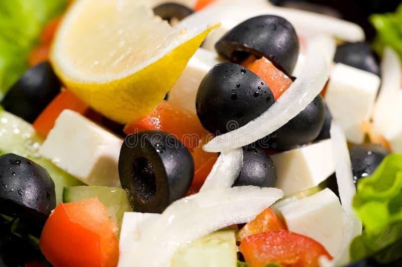 греческий салат макроса стоковые фото