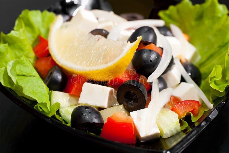 греческий салат макроса стоковое изображение