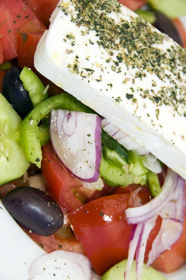 греческий салат макроса стоковые изображения rf