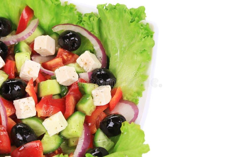 греческий салат вкусный стоковые изображения