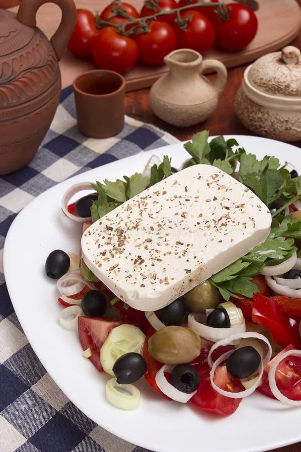 греческий салат традиционный стоковые изображения