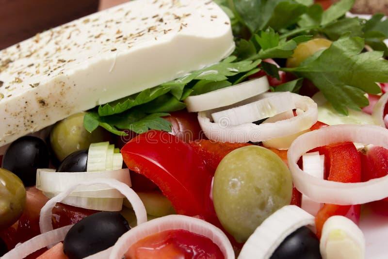 греческий салат традиционный стоковые изображения rf