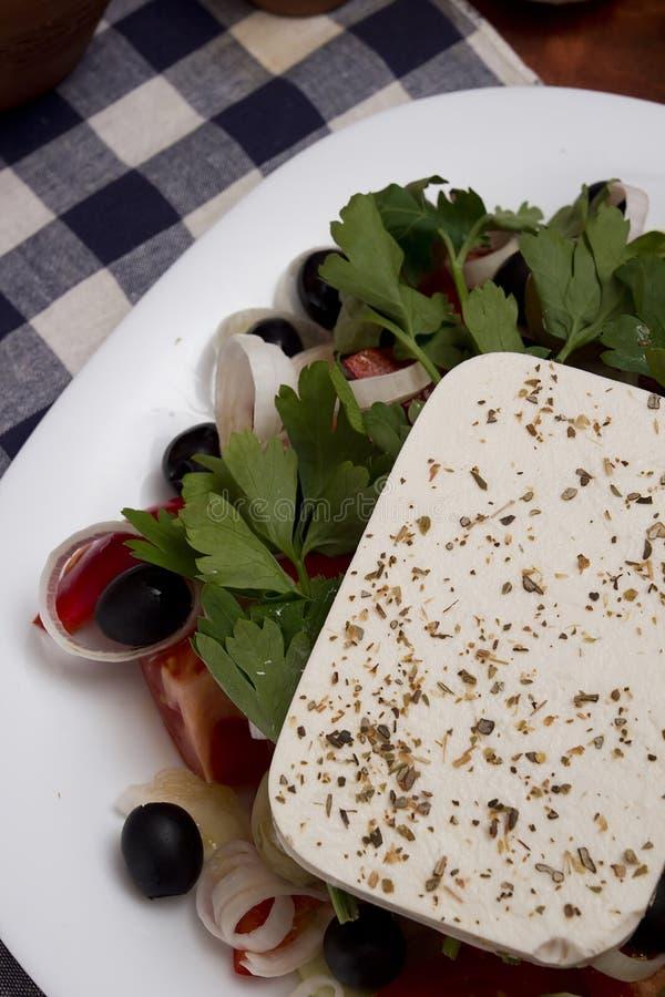 греческий салат традиционный стоковые фотографии rf