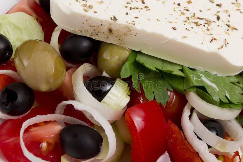 греческий салат традиционный стоковое фото