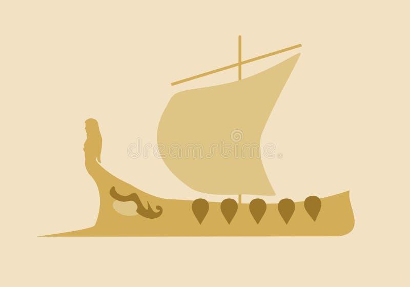 Греческий старый корабль бесплатная иллюстрация
