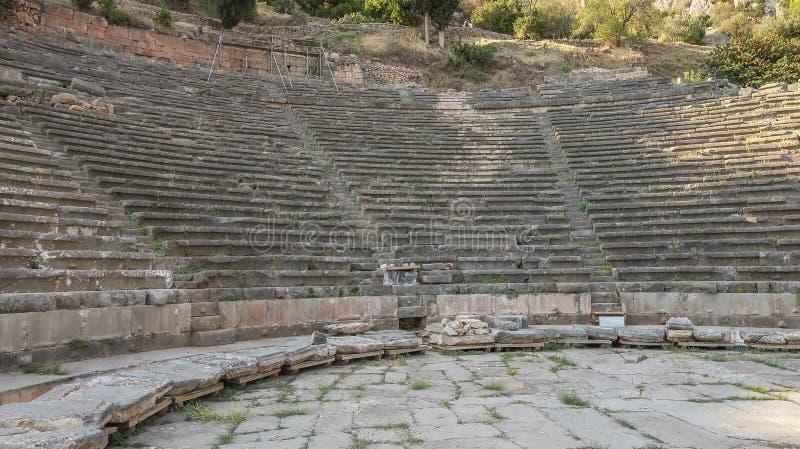 Греческий театр в Дэлфи, Греции стоковая фотография