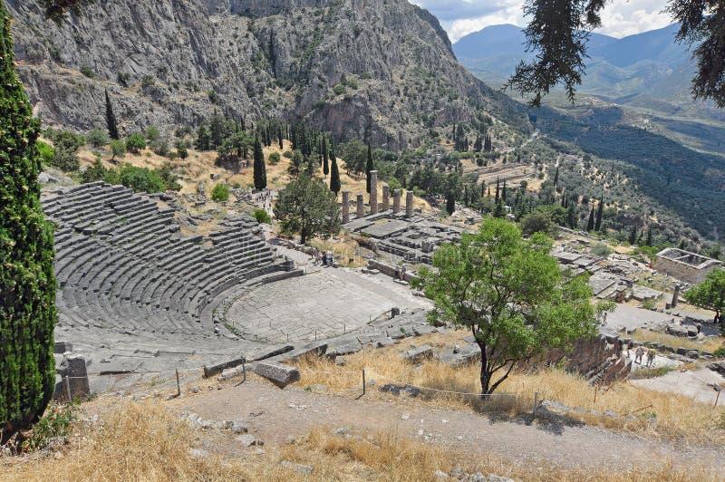 Греческий театр в Дэлфи, Греции 2 стоковое изображение rf