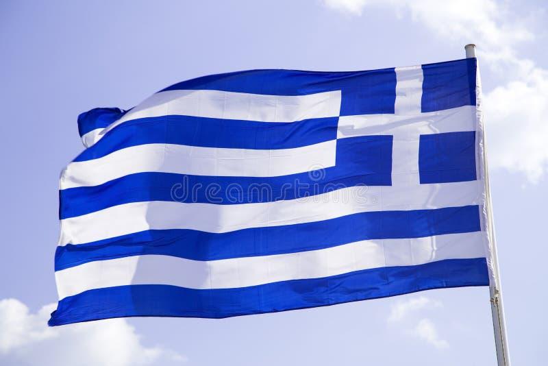 Греческий флаг стоковое изображение rf