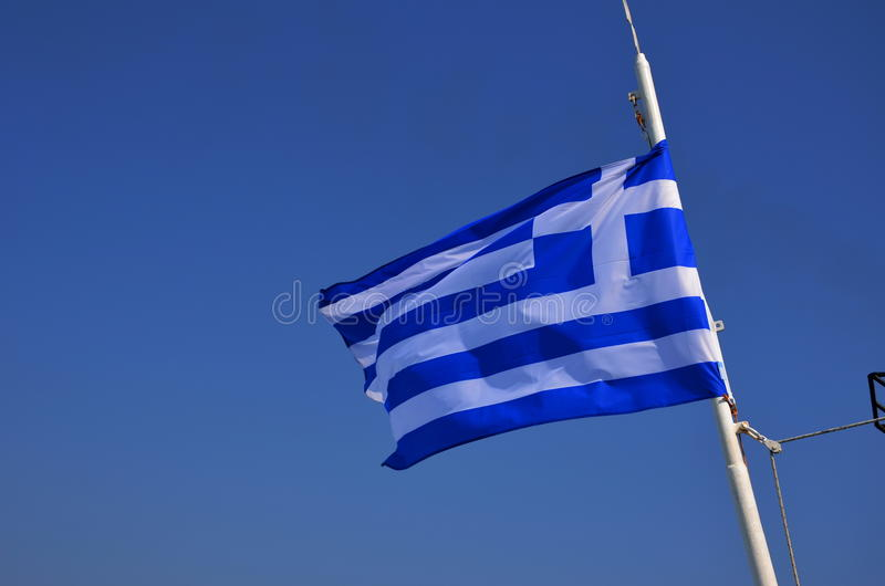 Греческий флаг стоковое фото rf