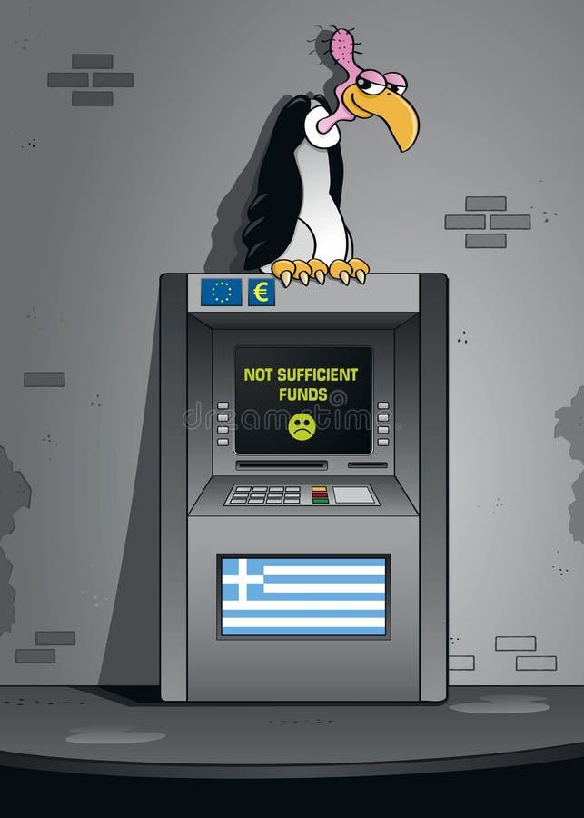 Греческий хищник банкротства иллюстрация штока