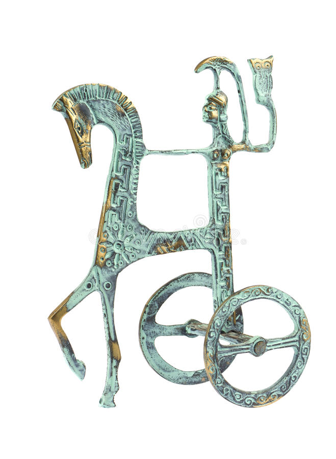 Греческий figurine ратника стоковые изображения