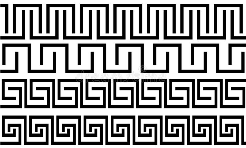 греческими тип установленный картинами иллюстрация штока