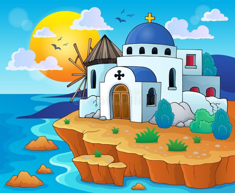 Греческое изображение 6 темы иллюстрация штока