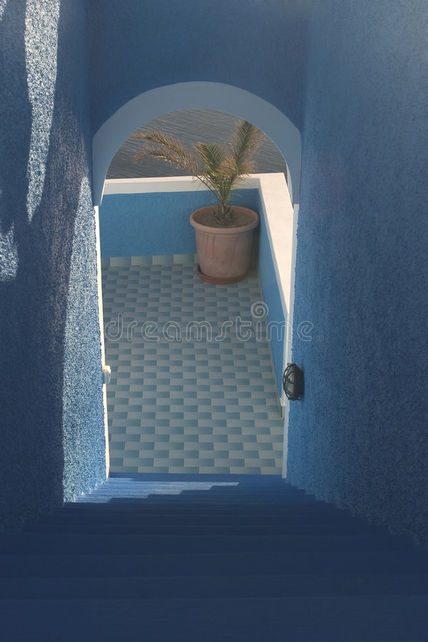 греческое место santorini острова типичное стоковое фото