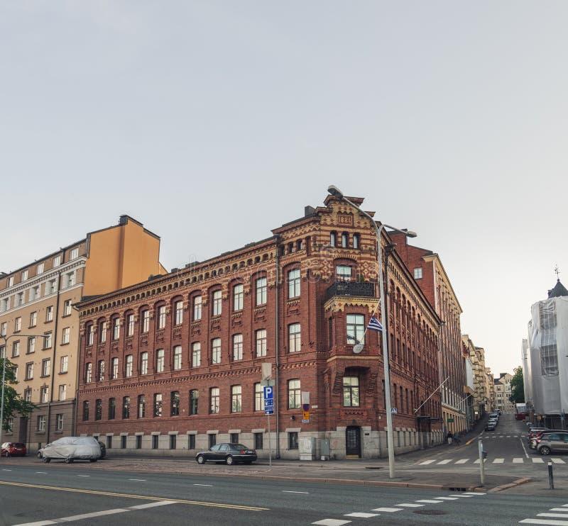 Греческое посольство в Хельсинки, Финляндии стоковые фотографии rf