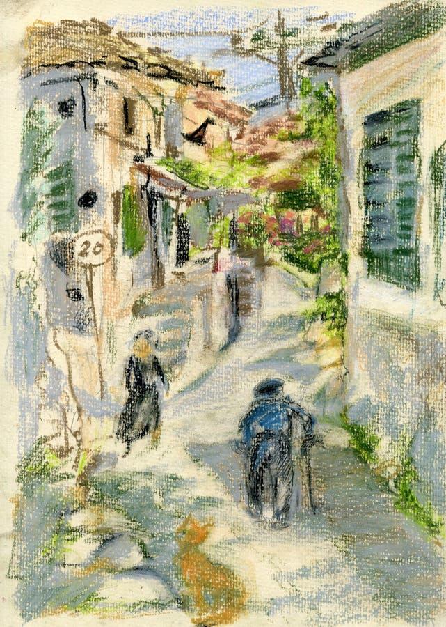 греческое село бесплатная иллюстрация