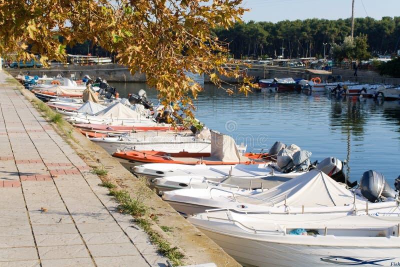 греческое село lagos porto стоковые фото