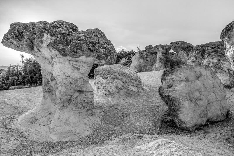 Грибы камня около деревни Beli Plast, Болгарии стоковое фото rf