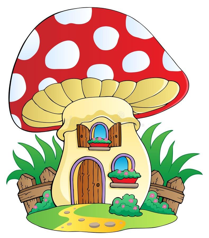 гриб дома шаржа бесплатная иллюстрация