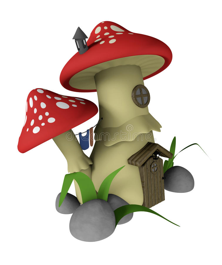 гриб дома иллюстрация штока