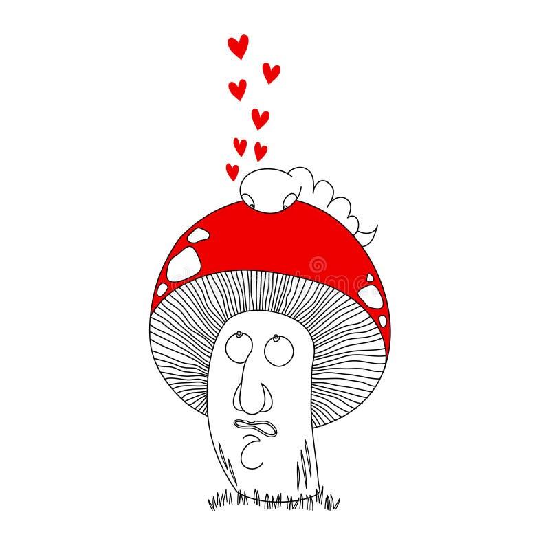 гриб также вектор иллюстрации притяжки corel бесплатная иллюстрация