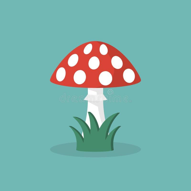 гриб amanita ядовитый бесплатная иллюстрация