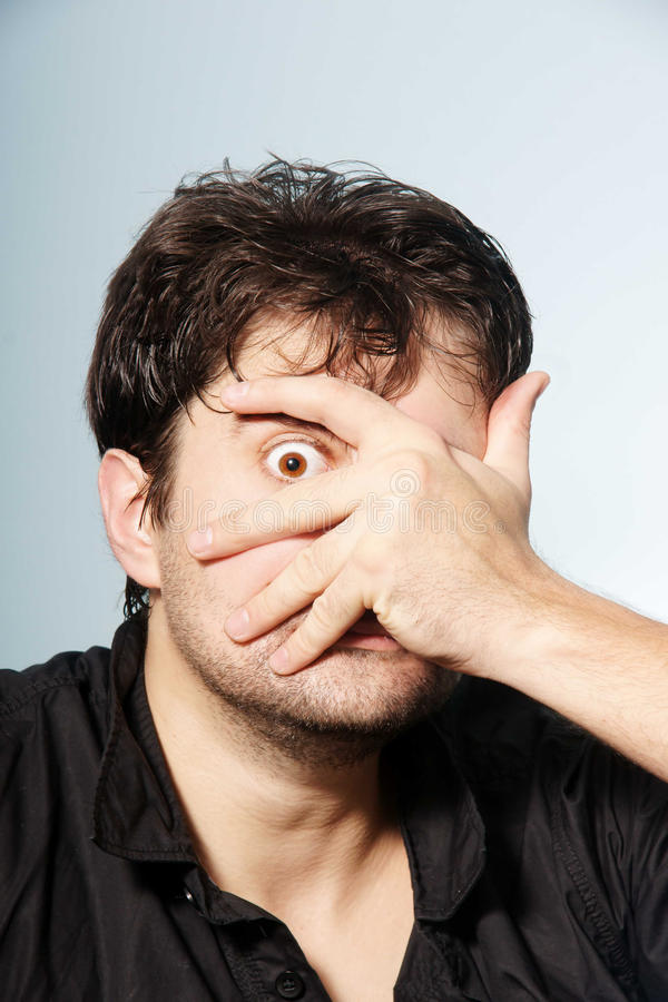 гримасничая человек стоковая фотография