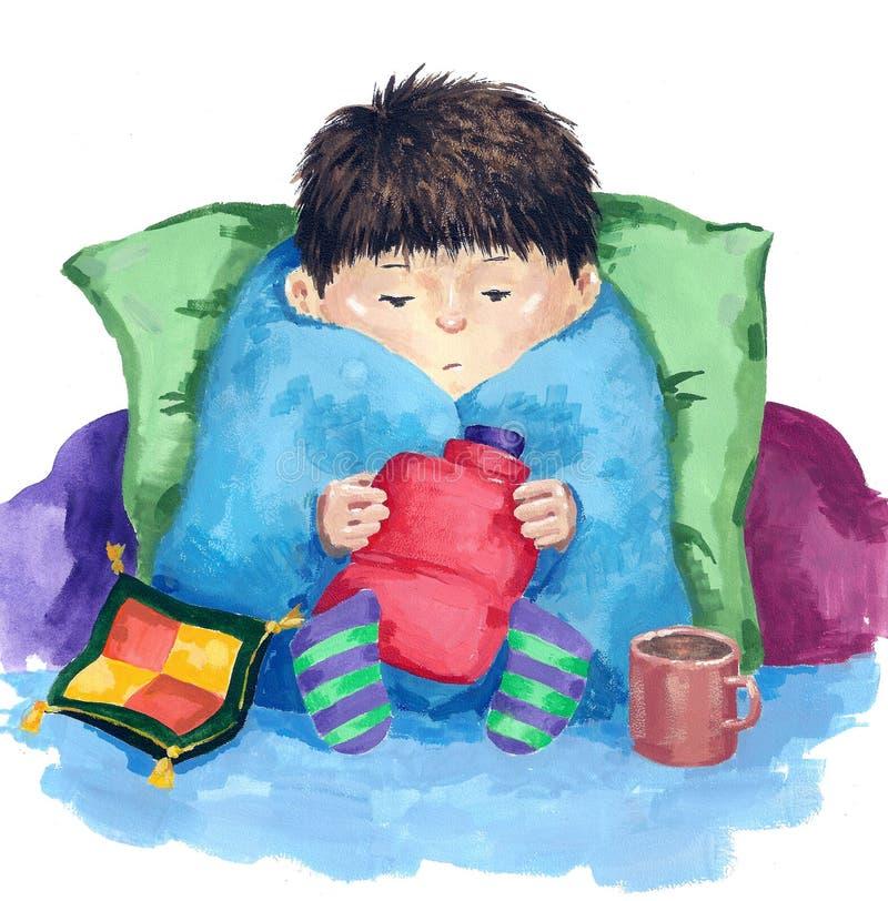 грипп иллюстрация штока