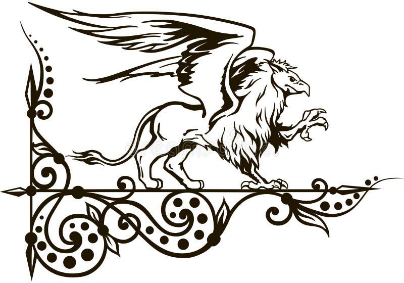 Грифон мифическая животная иллюстрация вектора иллюстрация штока