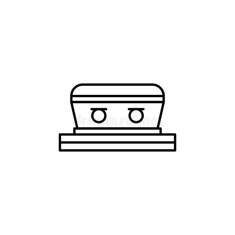 гроб, значок плана смерти детальный набор значков иллюстраций смерти r иллюстрация штока