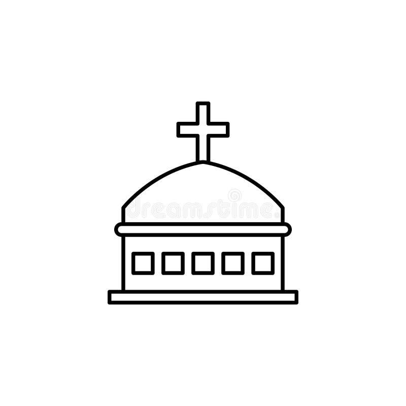 гроб, значок плана смерти детальный набор значков иллюстраций смерти r иллюстрация вектора
