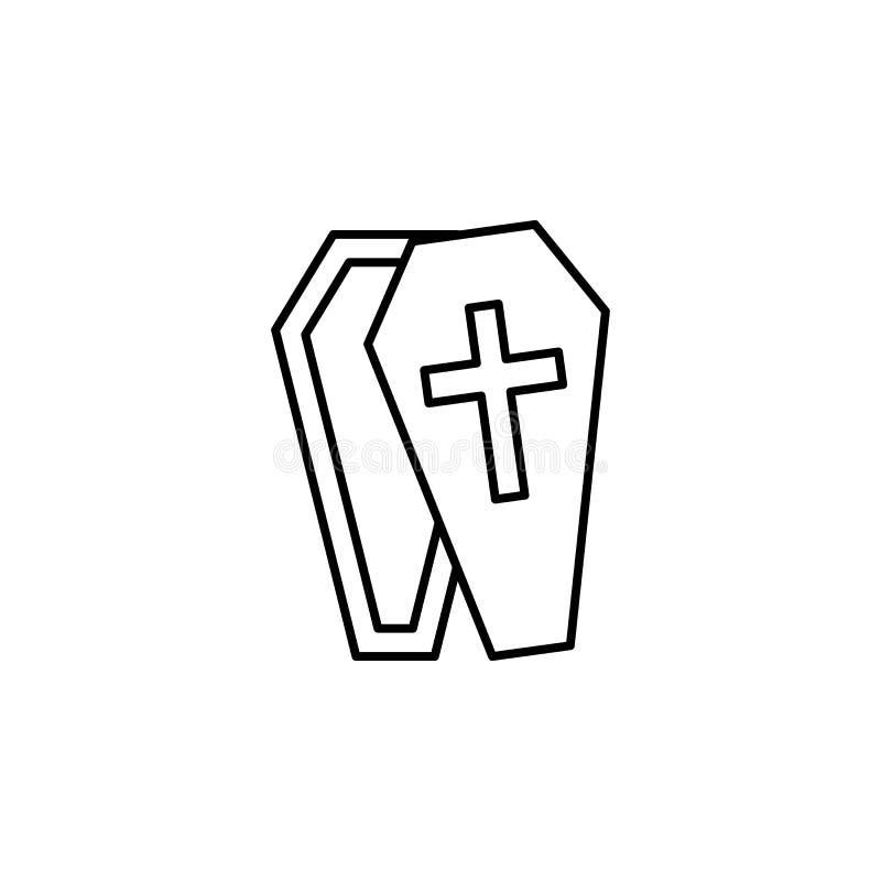 гроб, значок плана смерти детальный набор значков иллюстраций смерти r бесплатная иллюстрация